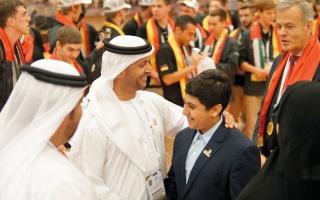 الصورة: 1500 شاب من 58 دولة يعرضون أبحاثاً علمية في أبوظبي