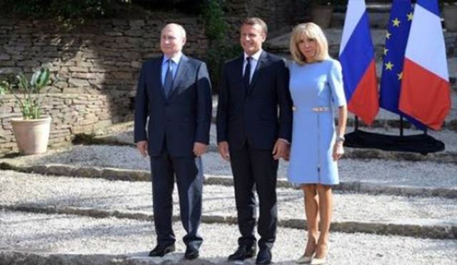Embarrassing Situation Video Macron Hurts His Wife In Front Of Putin And The Lenses Of Photographers Teller Report