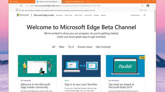 «مايكروسوفت» توفر النسخة التجريبية الأخيرة من «إيدج» - الإمارات اليوم