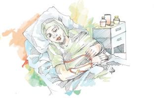 الصورة: سرطان المستقيم يهدّد حياة «إيمان»