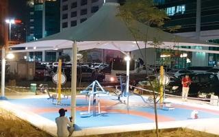 الصورة: منطقة جديدة للألعاب والتمارين الرياضية في كورنيش أبوظبي