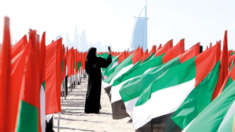 دولة الإمارات واحة للأمن ورمز للتسامح والإخاء والتعايش السلمي بين الثقافات والأديان المختلفة وعاصمة عالمية للعطاء والإنسانية.  أرشيفية