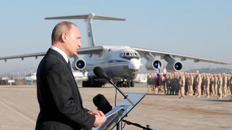 روسيا أعلنت سحب قواتها من سورية.  أ.ف.ب