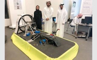 الصورة: 5 طلبة يبتكرون مركبة طائرة للمناطق الوعرة