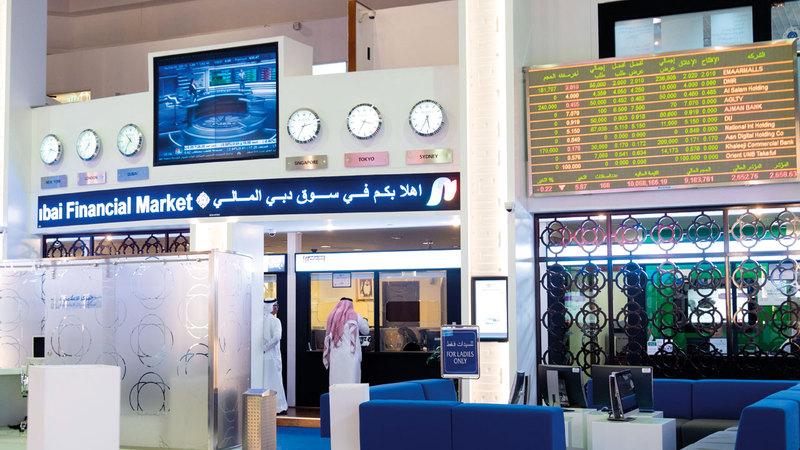 35.63 مليون سهم إجمالي مشتريات الأجانب في «دبي المالي». تصوير: أحمد عرديتي