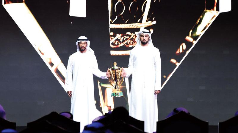 جانب من حفل قرعة بطولة كأس رئيس الدولة أمس. تصوير: أسامة أبوغانم
