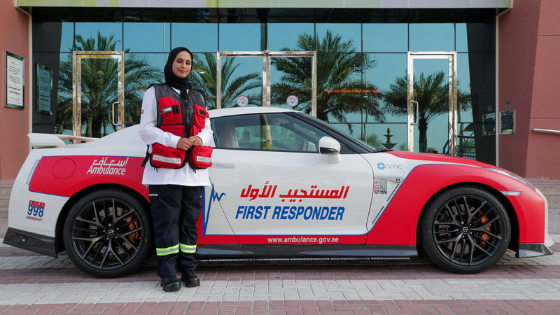 فاطمة النقبي سعت إلى التعاقد مع «إسعاف دبي» للعمل معها بعد تخرجها إلى أن تَحقّق حلمها.  من المصدر