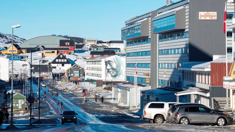 غرينلاند تتمتع بموقع استراتيجي بالنسبة للقطب الشمالي. أرشيفية