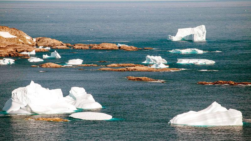 الغطاء الجليدي في غرينلاند يذوب بسرعة تعادل 6 أضعاف ذوبانه في ثمانينات القرن الماضي.  أ.ف.ب