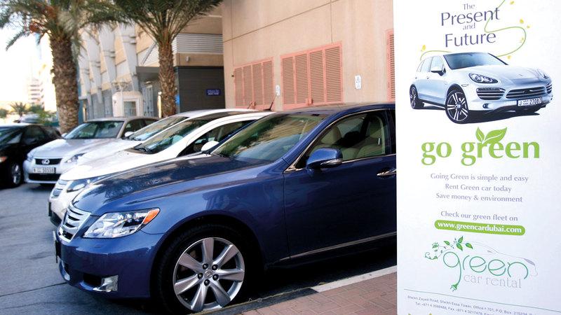 شركات أشادت بالحوافز المقدمة في دبي لتشجيع انتشار السيارات الكهربائية. تصوير: باتريك كاستيلو