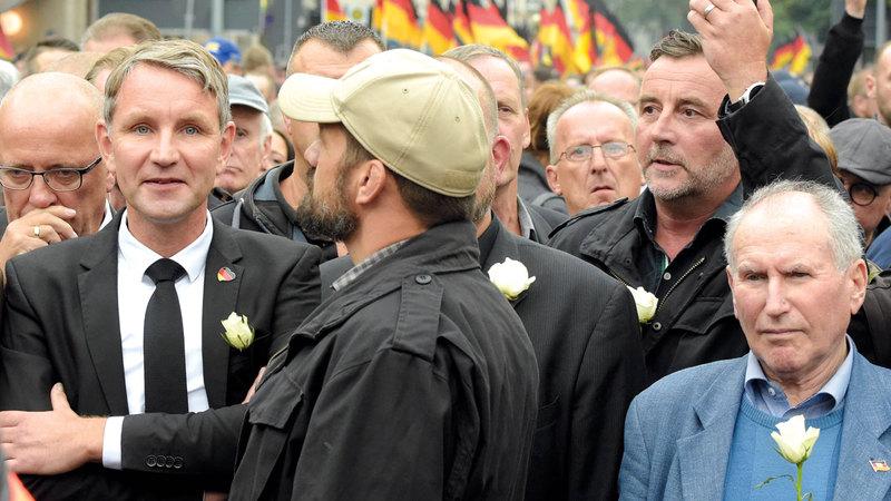 حزب البديل لألمانيا الشعبوي المتطرف حل بالمرتبة الثانية في انتخابات محلية بولايتي ساكسوني وبراندنبرغ.  أ.ب