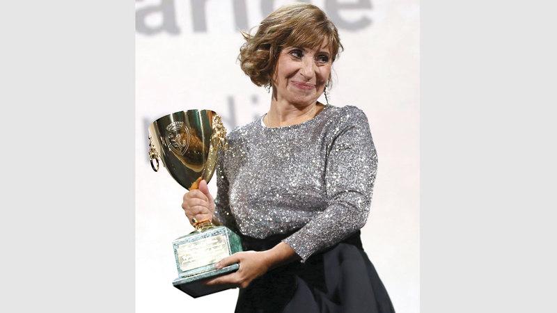 أريان أسكاريد حصلت على جائزة أفضل ممثلة عن دورها في فيلم «غلوريا موندي». أ.ب