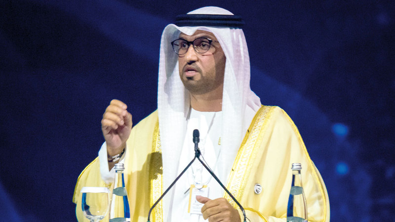 سلطان الجابر:  «دولة الإمارات نجحت في إنشاء منظومة متكاملة تضم مختلف أشكال الطاقة».