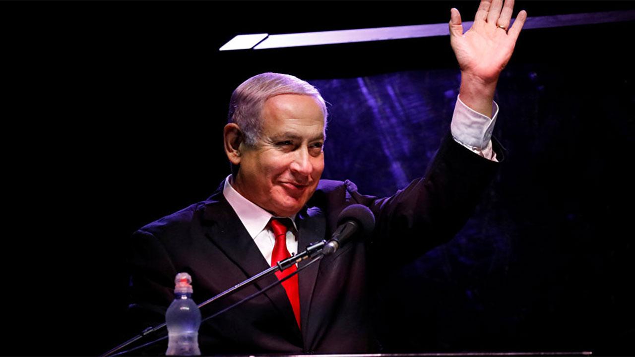 إجلاء نتنياهو من تجمع انتخابي بعد إطلاق صواريخ من غزة