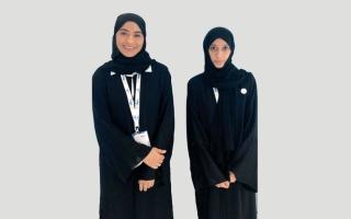 الصورة: مواطنتان ضمن فريق «المفاعل النووي السلمي»