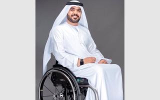 الصورة: بن طوق يسعى إلى نقل معاناة أصحاب الهمم للمجلس الوطني