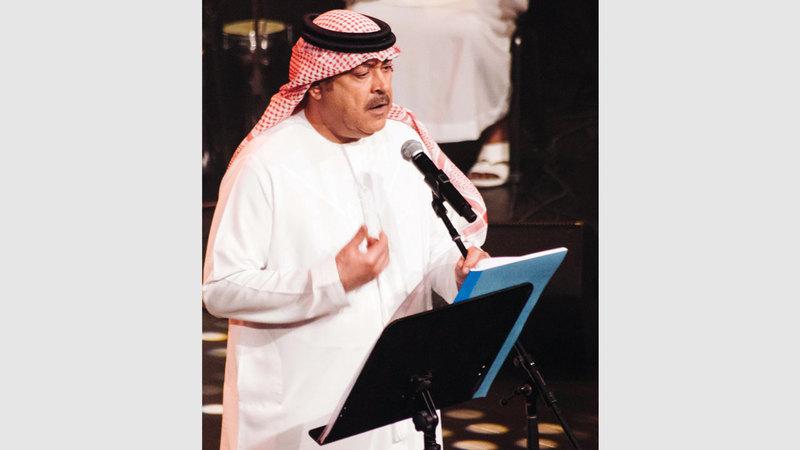 ميحد أذهل الحضور بمجموعة من أشهر أغانيه الإماراتية التقليدية. من المصدر