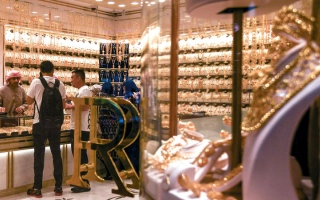 الصورة: انخفاضات في أسعار الذهب تصل إلى 6 دراهم للغرام   في أسبوع