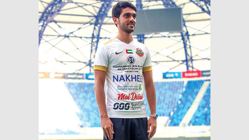 لاعب شباب الأهلي محمد جابر. من المصدر