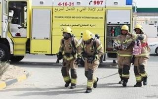 الصورة: إصابة شخصين قفزا من الدور الرابع بعجمان خوفا من حريق في الشقة