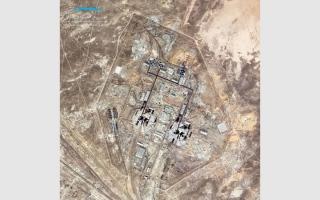 الصورة: «خليفة سات» يلتقط صورة من الفضاء لقاعدة بايكونور