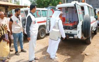 الصورة: الإمارات تقدّم 80 طناً من المساعدات الغذائية لسكان لبنة والحسير بحضرموت