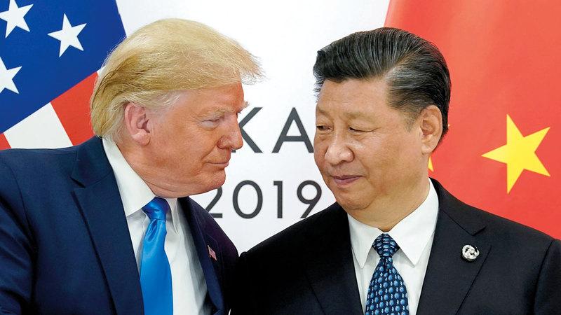 ترامب ونظيره الصيني شي جين بينغ. أرشيفية