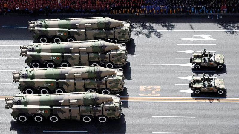 خلال استعراض عسكري للجيش الصيني. أسوشيتد برس