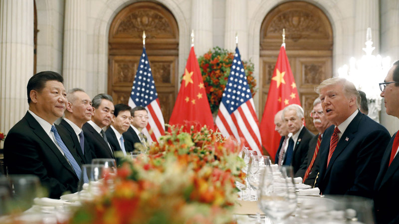 لقاء مشترك بين قادة الولايات المتحدة والصين. أرشيفية