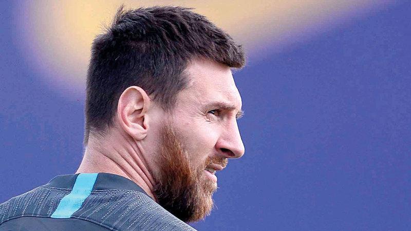 ميسي: أودّ الفوز مجدداً بلقب دوري أبطال أوروبا. أ.ف.ب