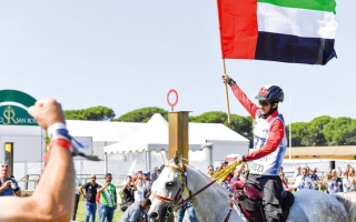 الصورة: سهيل الغيلاني بطل مونديال الخيول الصغيرة في إيطاليا