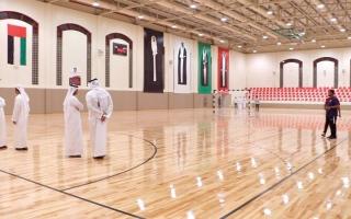 الصورة: مجلس الشارقة يتسلّم الصالة الرياضية لنادي الحمرية