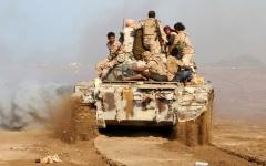 الصورة: تدمير تعزيزات عسكرية للميليشيات