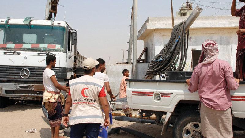 الإمارات أسهمت بشكل كبير في تحسين وعودة الحياة إلى مؤسسة المياه في عدن. وام