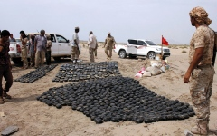 الصورة: قتيلان و3 مصابين بانفجار ألغام حوثية في البيضاء والحديــدة