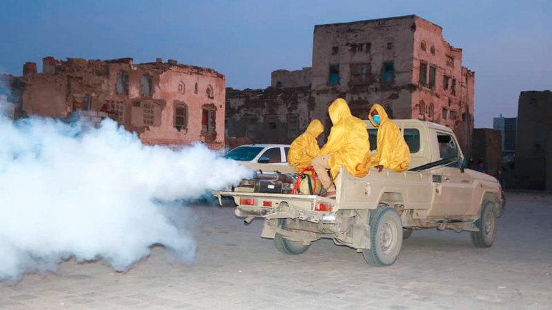 خلال حملة تستهدف القضاء على البعوض والحشرات الناقلة للأوبئة. وام