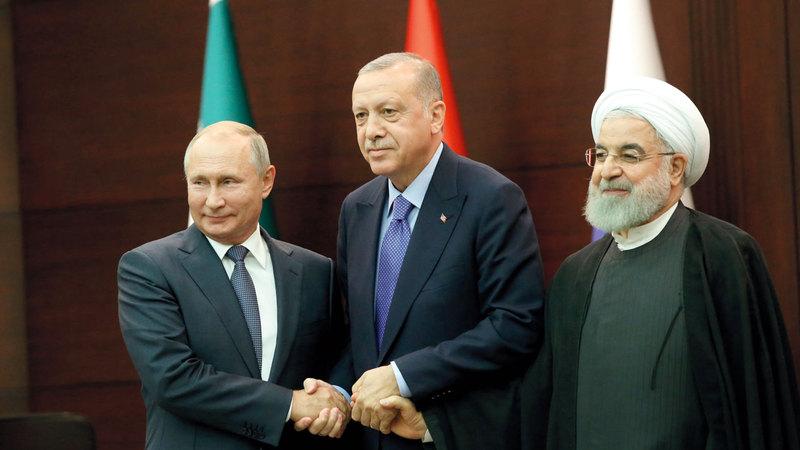 بوتين وأردوغان وروحاني يتفقون على تخفيف التصعيد في إدلب. غيتي