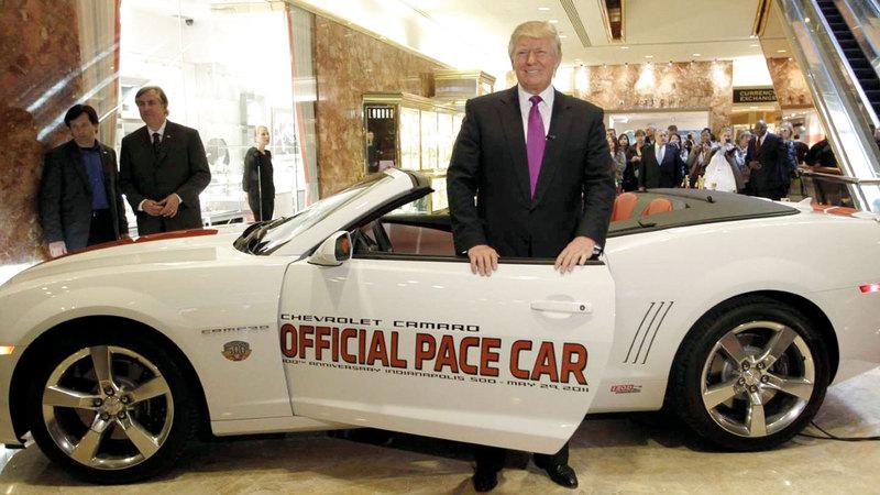 ترامب لديه العديد من السيارات الفارهة.  أرشيفية