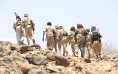الصورة: «التحالف» يعلن سقوط صاروخ حوثي  في صعدة وتدمير مخازن أسلحـــــة للميليشيات