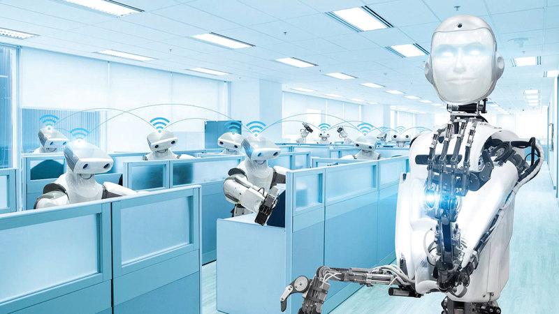 الروبوتات تحل مكان البشر في مواقع العمل. أرشيفية