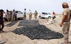 الصورة: مسؤول يمني: الألغام الحوثيــة «جريمة حرب» ضد الإنسانية