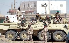 الصورة: القوات اليمنية المشتركة تسيطر على مواقع استراتيجية في تعز
