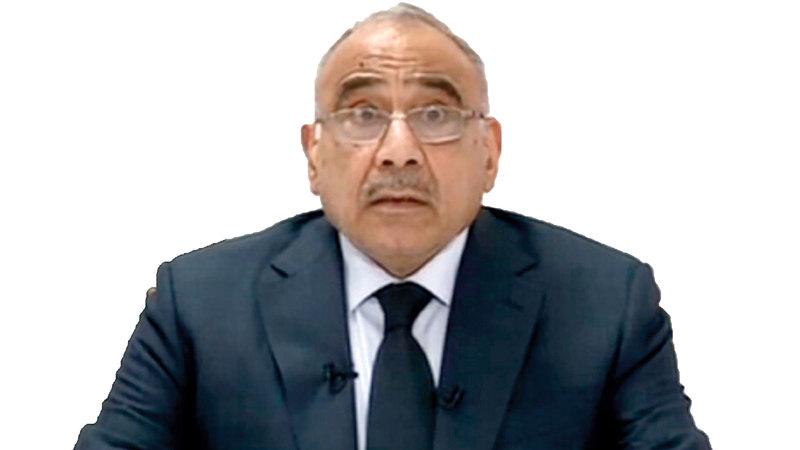 عادل عبدالمهدي للمتظاهرين العراقيين: «صوتكم مسموع، ومطالبكم مشروعة».