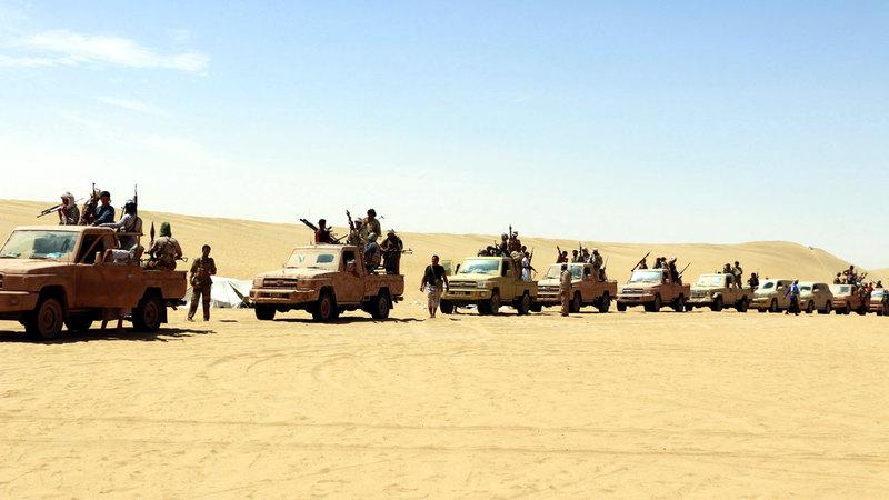 معارك عنيفة بين الجيش مسنوداً بالتحالف العربي والميليشيات الحوثية في صعدة. أرشيفية