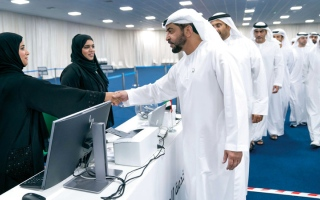 الصورة: حمدان بن زايد: الإمارات تسير بخطوات ثابتة لتطوير العمــل البرلماني