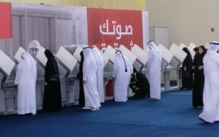 الصورة: رؤساء لجان انتخابية عملية التصويت لم تستغرق أكثر من دقيقة