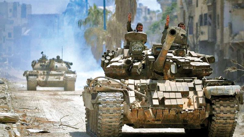 قوات النظام السوري هجّرت الكثير من السوريين من أماكن سكنهم لأسباب طائفية. أرشيفية