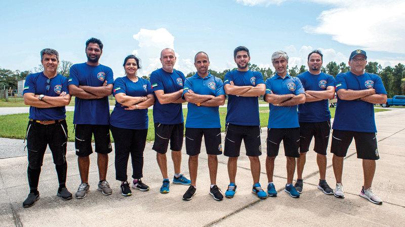 فريق الـ«فيكتوري تيم» يستعد للتحدي العالمي. من المصدر