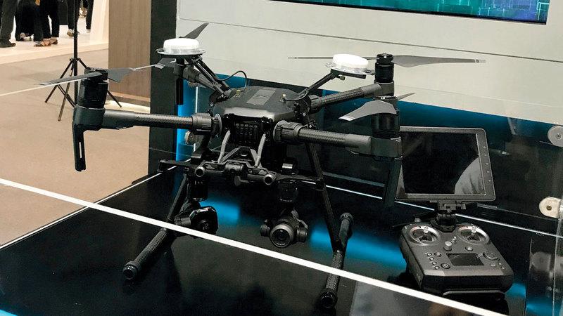 هيئة الصحة تعرض الطائرة الذكية في «جيتكس». من المصدر