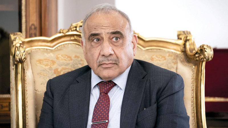 عبدالمهدي إذا لم يسيطر على الأمور خلال بضعة أيام فقد تنهار حكومته. غيتي